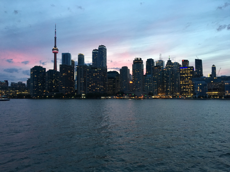 Toronto skyline from our
